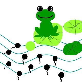 可爱蝌蚪矢量图