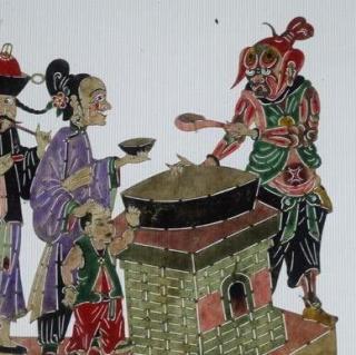 孟婆三七手绘插画