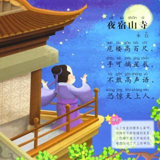 国学>唐诗:《夜宿山寺》(李白)图片
