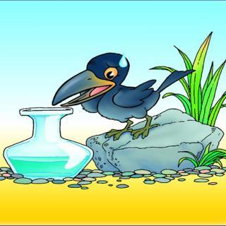 乌鸦喝水简笔画-在线收听 班迪故事口袋 荔枝