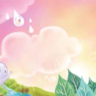 云彩和小雨滴简笔画带颜色