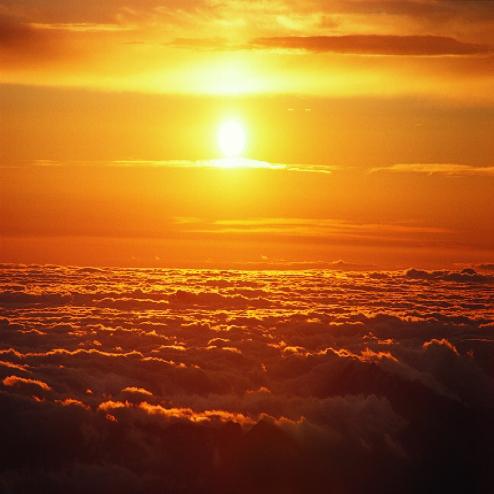 太阳升起的风景图