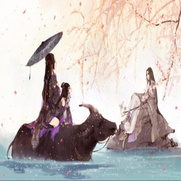 剑三风景黑白画