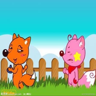 像大象的小玥老师 两只小狐狸
