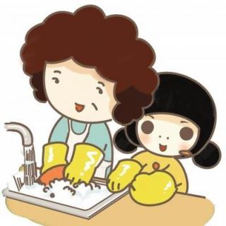 宝宝洗碗简笔画