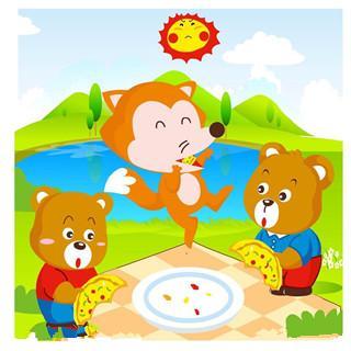 狐狸和两只小熊