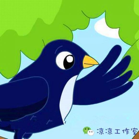 卡通动物乐园手绘燕子
