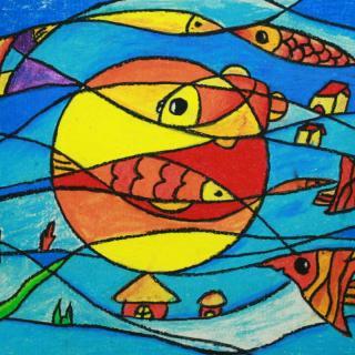 大海风景画 儿童