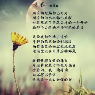 青春席慕容_青春 席慕蓉