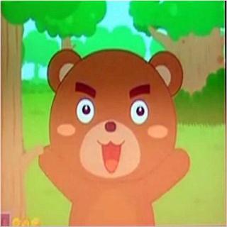 这时,小动物们手牵着手走过来,看见孤零零的大熊,他们都愣住了.
