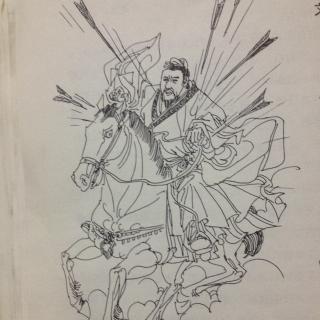 刘备简笔画带步骤