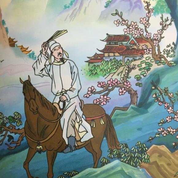 大林寺桃花图片