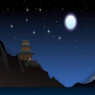 夜宿山寺-李白图片