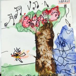 贝贝自编绘本故事男孩与树图片