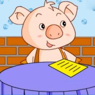 """"""" 旁边吃饭的小动物听到小猪和松鼠的对话,都在悄悄地笑话小猪,小猪"""