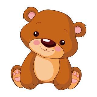小熊摘苹果手绘图