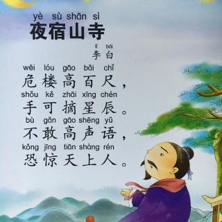 唐诗之夜宿山寺图片