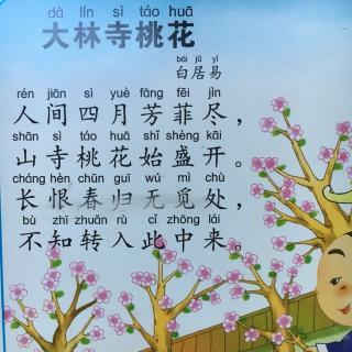 唐诗之大林寺桃花图片