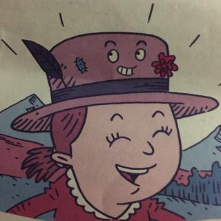 儿童手绘草帽画图片