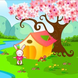 童话故事:桃树下的小白兔