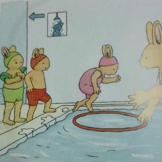 汤姆在游泳池