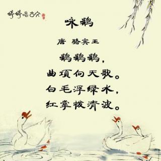 幼儿园古诗咏鹅主题墙图片