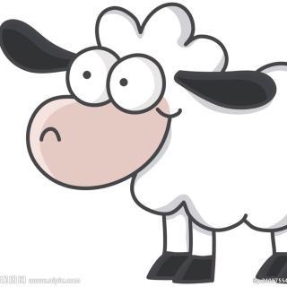 小羊卡通头像手绘