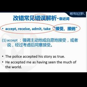 accept receive admit take