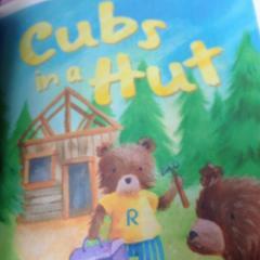 Cubs in a hut