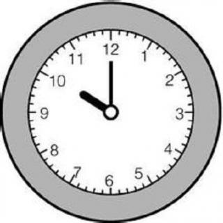 钟表简笔画7点
