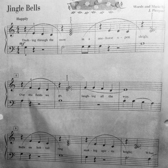 jingle bell古筝简谱