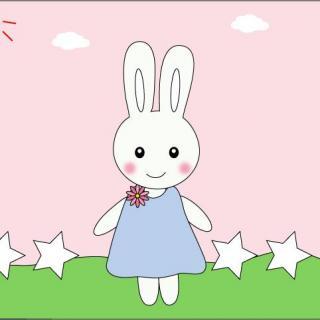 儿歌《小白兔白又白》美美2岁图片