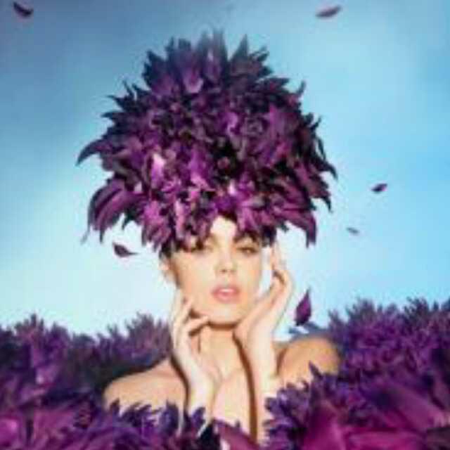 开满鲜花的头