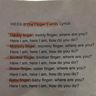 fingerfamily乐谱