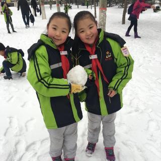 小学生拼音报下雪了系列图片