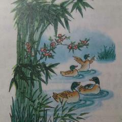 惠崇春江晓景(宋)苏轼