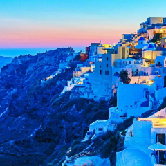 初遇希腊 圣托里尼的落日