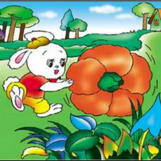 【小白兔和小灰兔运南瓜】