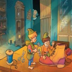 《两个神秘的小鞋匠》-影响宝宝成长的一百个故事。
