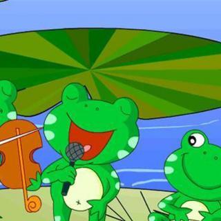 介绍:                              晴朗的夏天,小青蛙正在荷叶图片