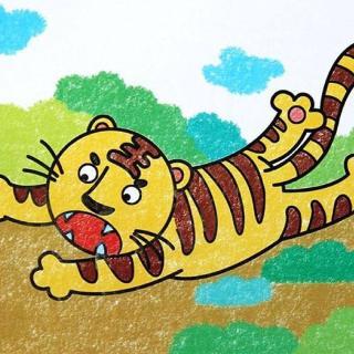 老虎畫法兒童畫