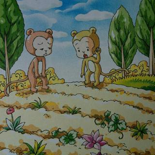 猴子儿童画画图片