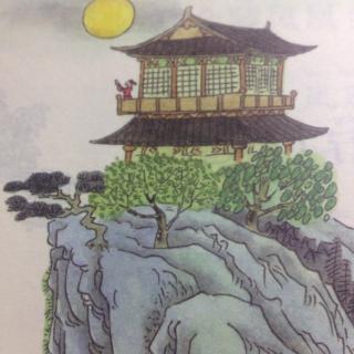 夜宿山寺图片