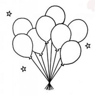 简笔画气球图片大全
