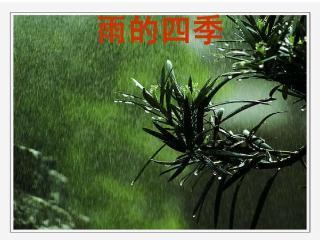 雨的四季-刘湛秋图片