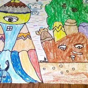 儿童画葡萄绘画步骤