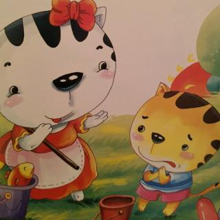 小百灵幼儿园绘本故事《小猫钓鱼》