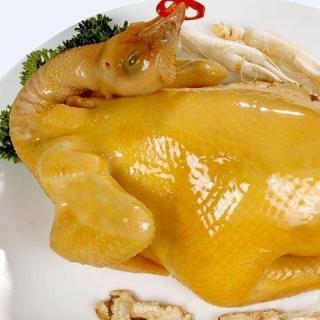 Paladar chino: El pollo enrollado en hoja de loto en chino, 荷叶焗鸡