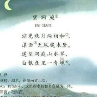 望洞庭的意思_望洞庭 刘禹锡
