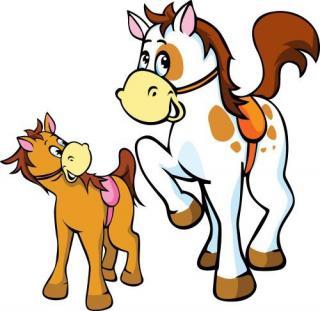 动物童话:大马和小马
